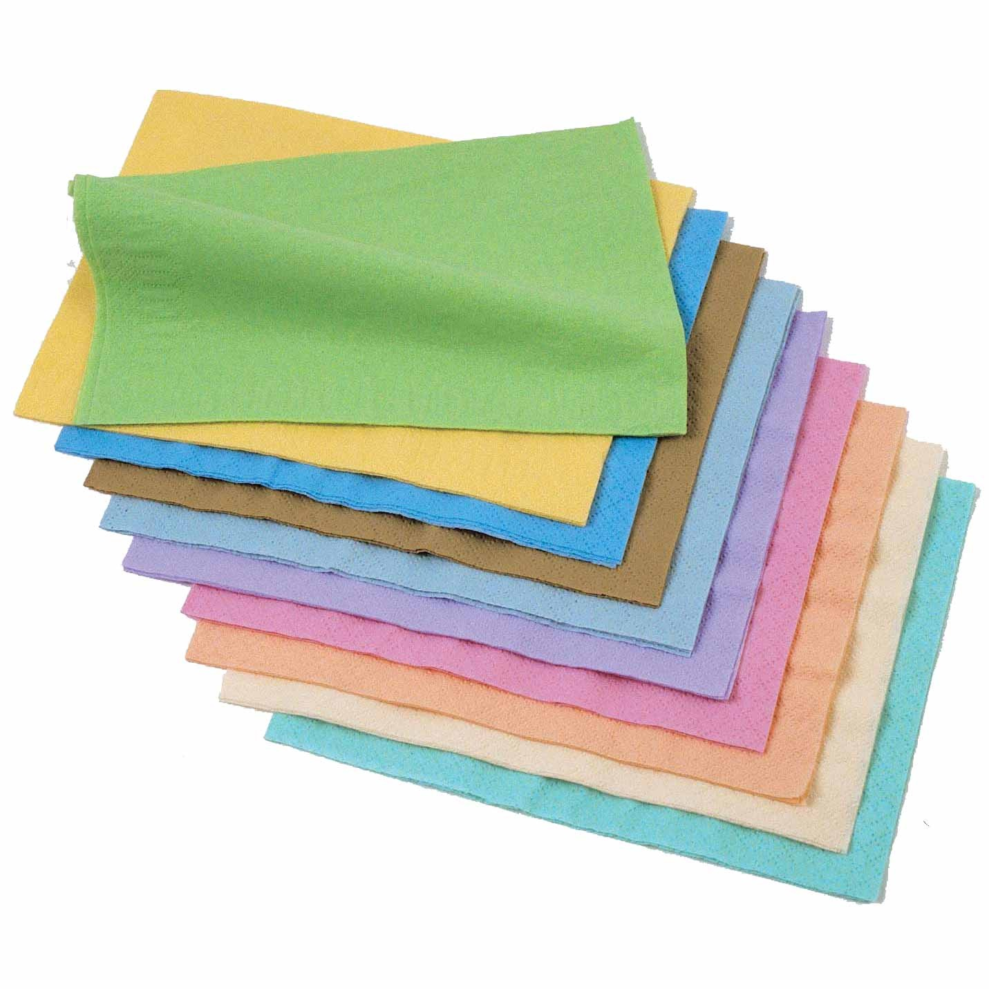 Serviettes Couleurs Pastels